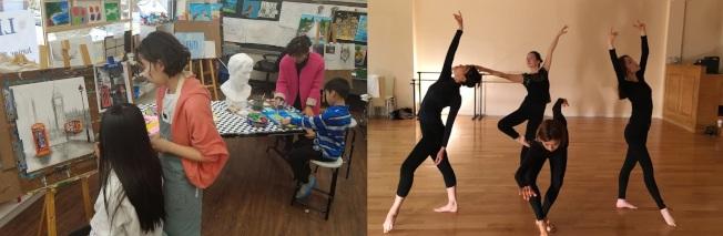 長島學院夏令營課程豐富多面向,課程包括學科、音樂、藝術、舞蹈。