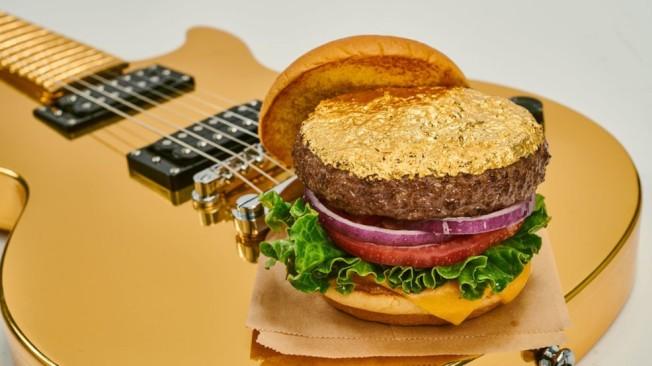 硬石餐館推出金箔漢堡包。(硬石餐飲企業網照)