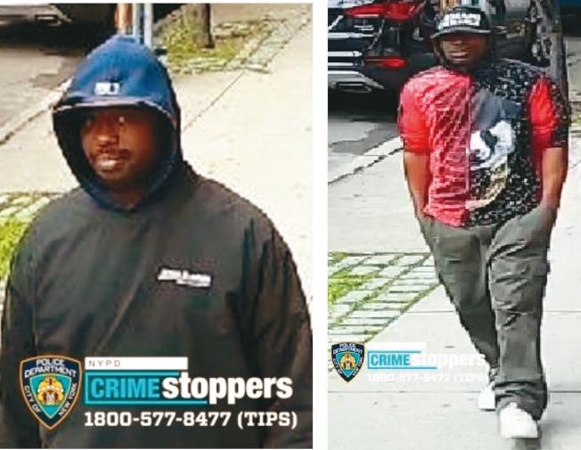 兩名非洲裔劫匪搶走兩名華裔萬元現金。(市警提供)