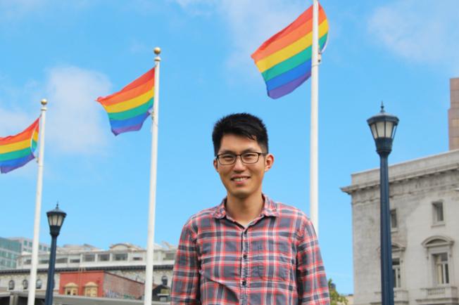 今年舊金山LGBT電影節有五部華語影片,華裔影人臧劍也執導一部紀錄短片。(記者李晗 / 攝影)