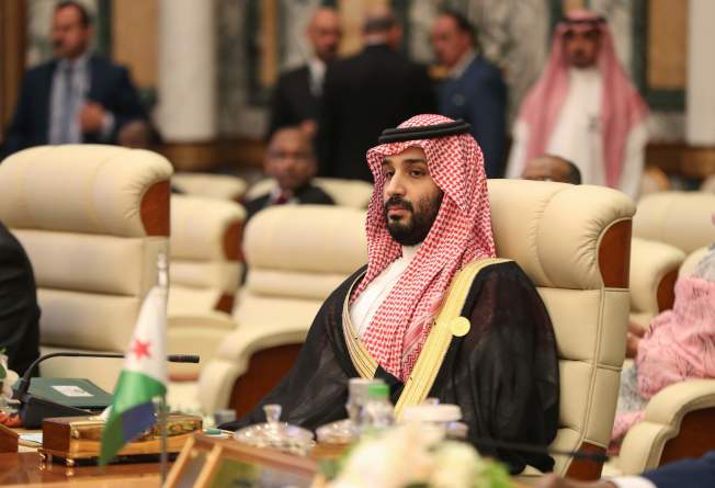 沙國王儲穆罕默德指控伊朗攻擊兩艘油輪。(Getty Images)