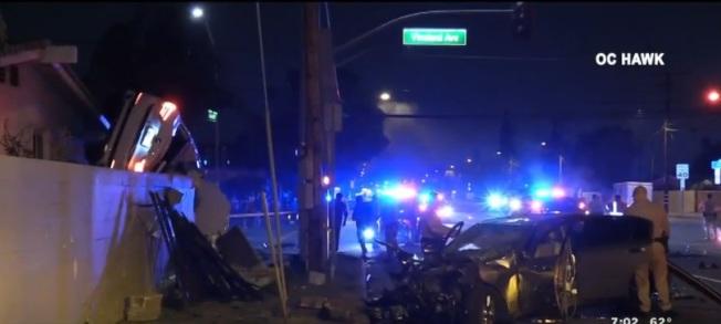 拉朋地车祸现场。(视频截图)