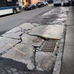 法拉盛破損公車道 交通局允2周內修復