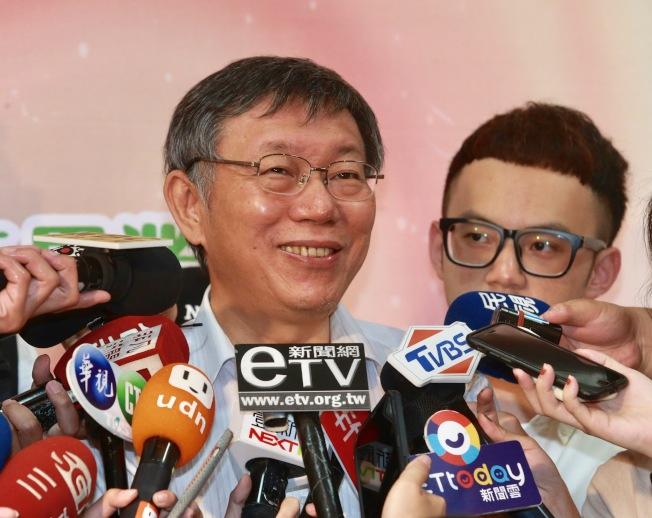 台北市長柯文哲。(記者黃義書/攝影)