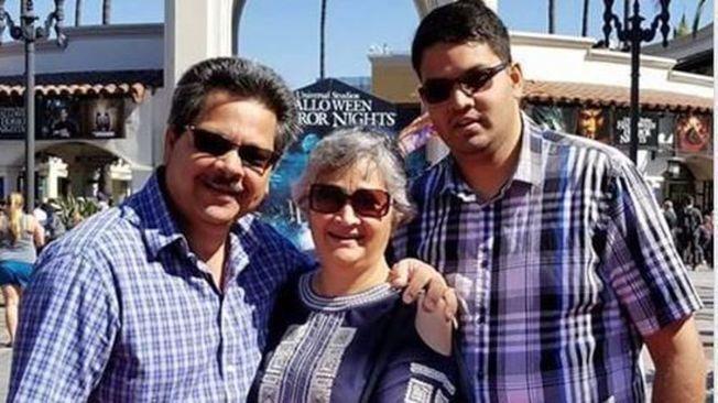 科洛納好事多槍擊案,死者法蘭西(右),與兩名傷者、法蘭西的父母。(Shureih提供)