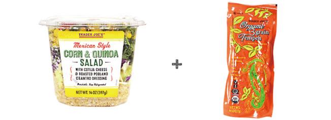 天貝加上藜麥玉米沙拉,可為素食者提供豐富的營養。(取自Trader Joes官網)