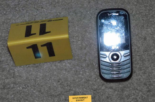 檢方扣押的嫌犯手機。(法院提供)