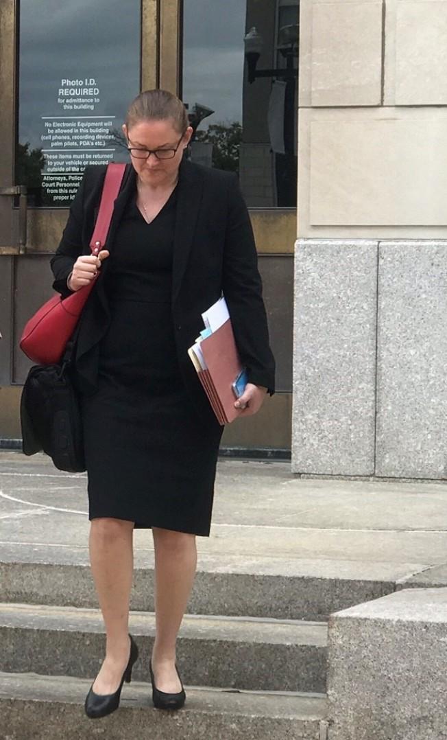 章瑩穎案17日繼續開庭審理,辯方主要由律師波拉克向檢方證人提問。(特派員黃惠玲/攝影)