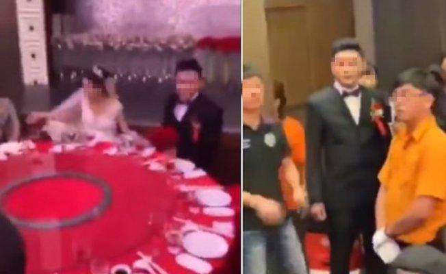 台東發生新郎與前妻弟弟的女朋友發展出不倫戀,引發婚宴鬧場事件。圖/取自影片