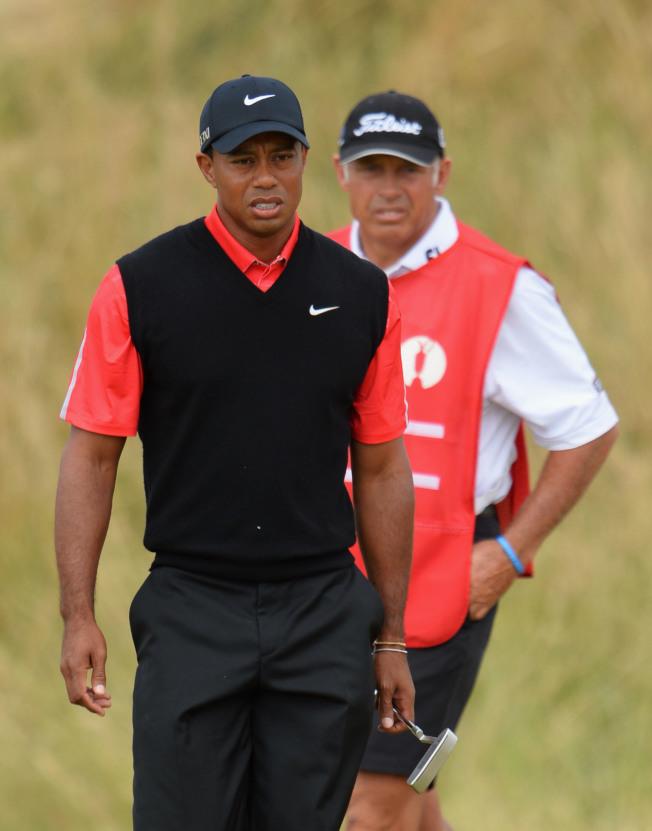 老虎伍茲(左)曾與威廉斯(右)合作多年。(Getty Images)