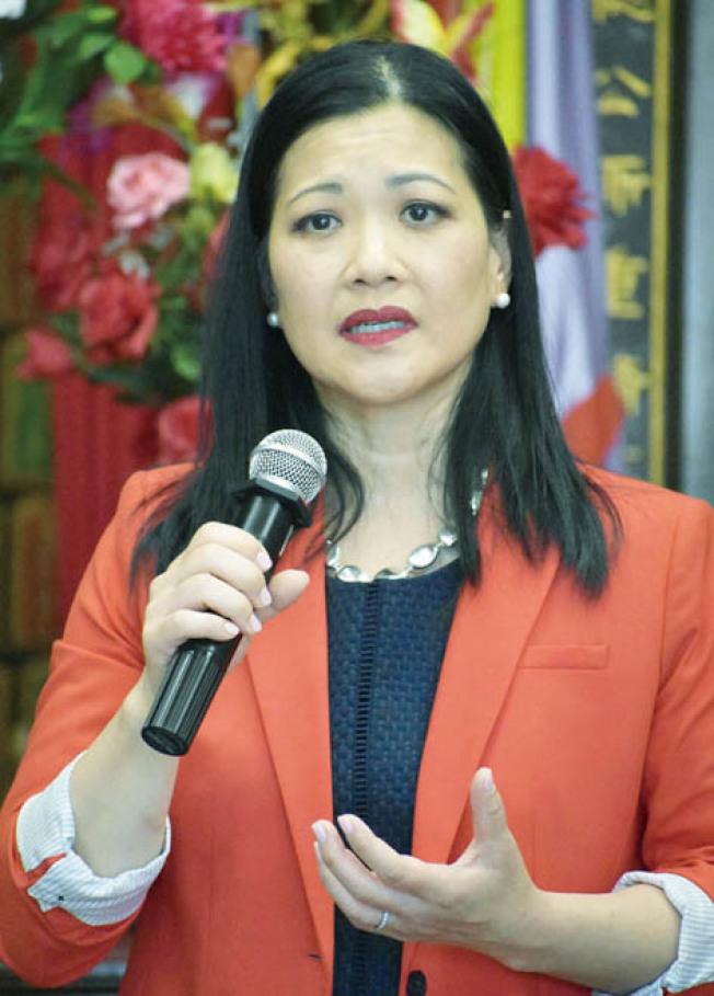 華裔地檢長候選人湯曉慧提出六點方案,保護受害人獲平等對待。(本報檔案照片,記者李秀蘭攝影)