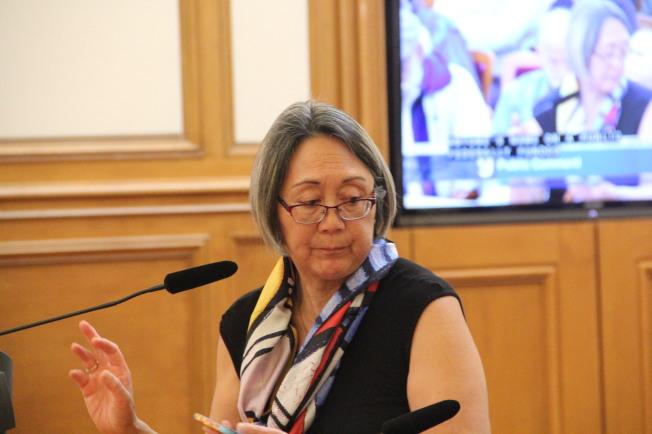 31--李雷綺華在交通委員會上發言。(記者李晗╱攝影)