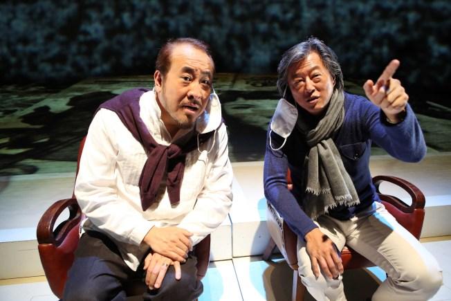 舞台劇《往事只能回味》由田浩江(左)與王偉忠主演。(全民大劇團/提供)