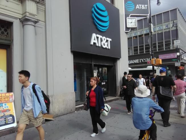 AT&T電訊公司放棄與華為的合作計畫。(韓傑/攝影)