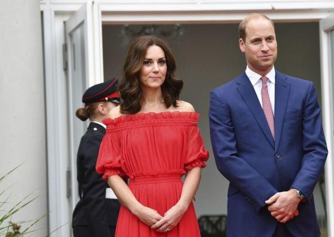 英國威廉王子與凱特王妃。美聯社
