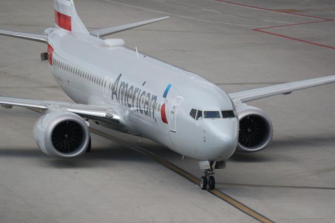 美國航空的波音737 Max 8客機。(Getty Images)