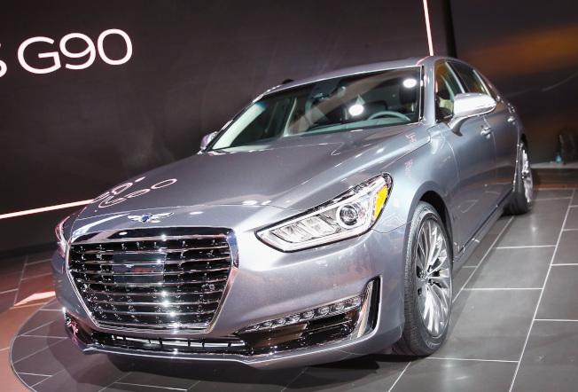 J.D.Power調查指出,南韓汽車品牌Genesis(見圖)、起亞和現代,連續第二年位居汽車最佳品質排行榜前三名。(Getty Images)