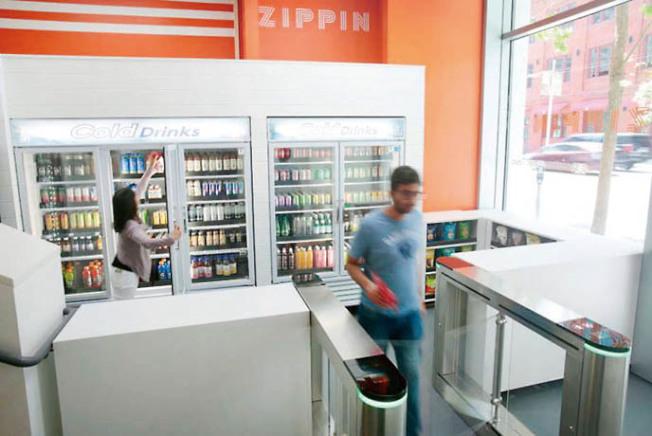 挑戰Amazon Go技術的新無人商店在舊金山開張。(Zippin提供)