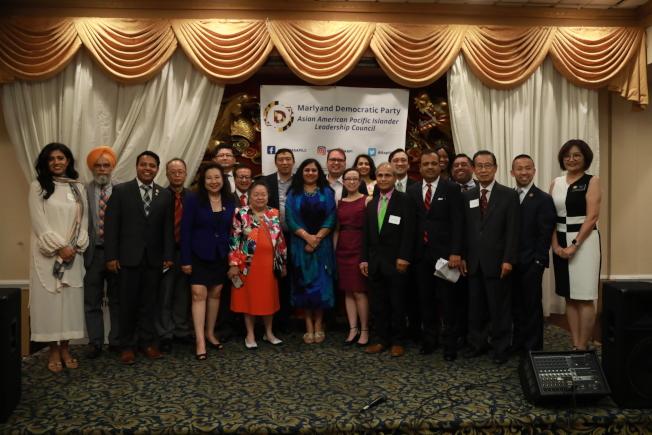 慶祝亞太裔創造歷史,馬州民主黨亞太裔領導力委員會舉行晚宴。(記者羅曉媛╱攝影)
