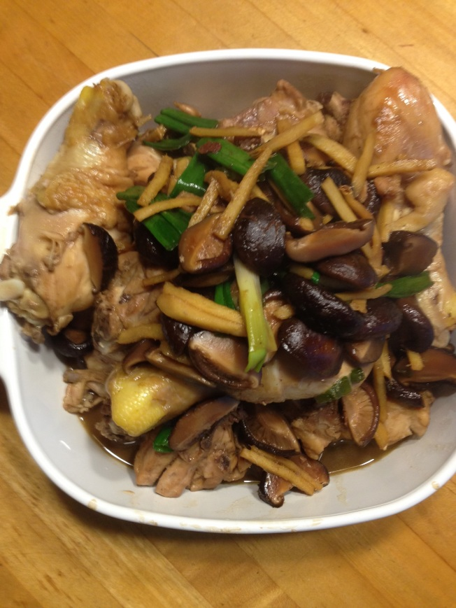 黑香菇燒四分雞腿