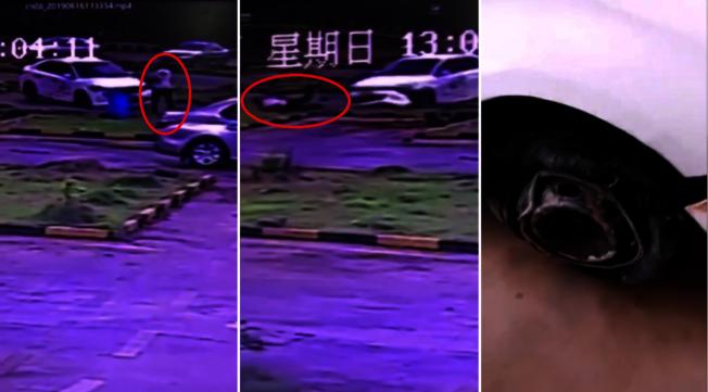 中國廣西地區南寧市,一間駕訓班的學員,疑似緊張過度,倒退時誤把油門當煞車踩,導致車輛甩