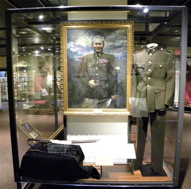 孫立人將軍展覽專櫃。
