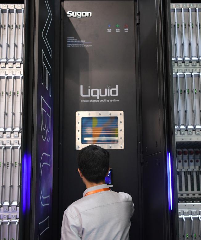 中科曙光是中國領跑的超級電腦,超算能力受到國際關注。(新華社)