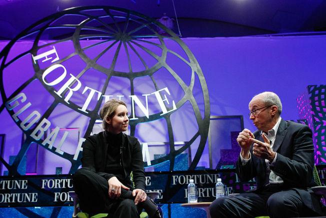 霍姆斯2015年應邀參加「財富」  雜誌主辦的世界論壇。(Getty Images)