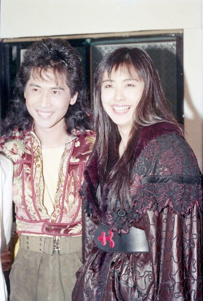 齊秦(左)當年與王祖賢因拍戲而相戀。 (本報資料照片)