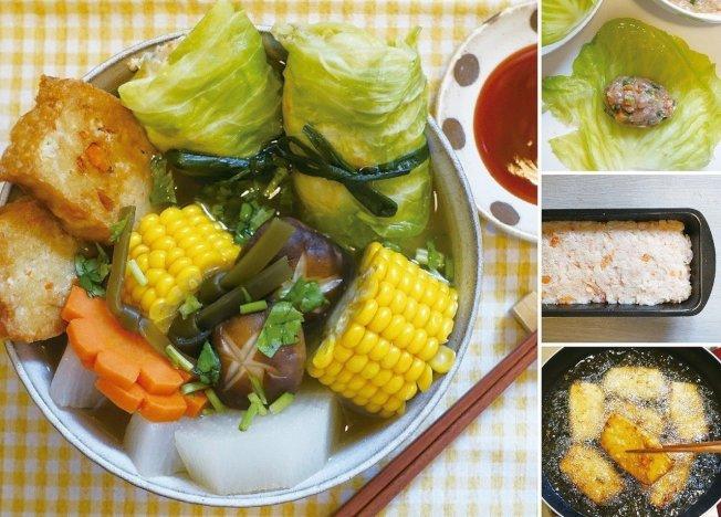 自製魚板跟高麗菜捲煮成的關東煮,健康又美味。圖/太陽臉