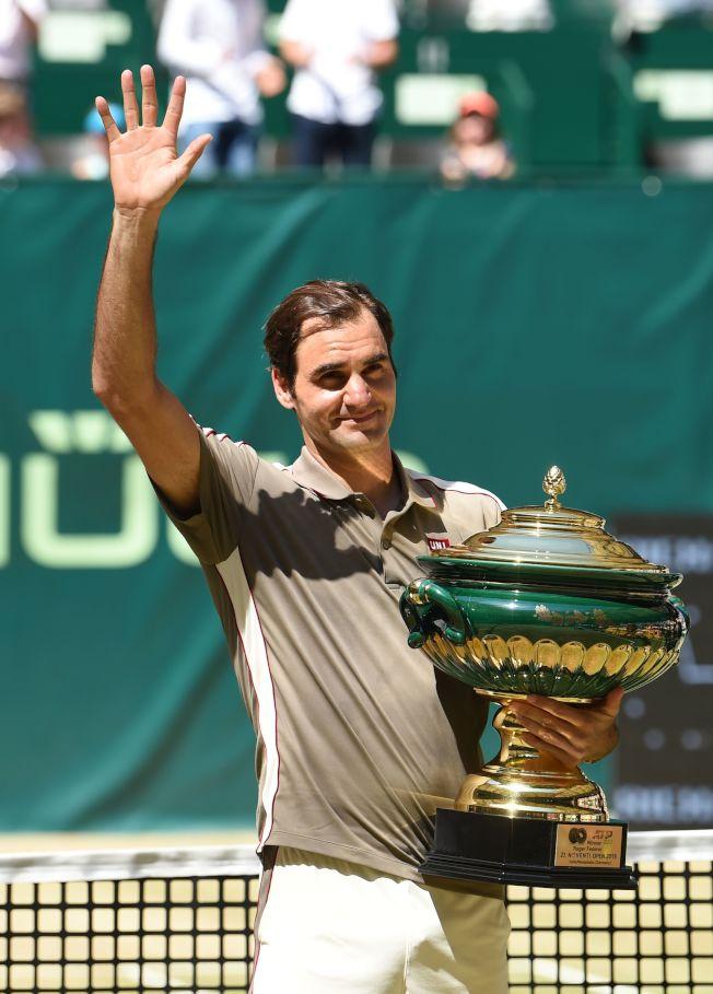 這座冠軍也是費德勒生涯第102冠。(Getty Images)