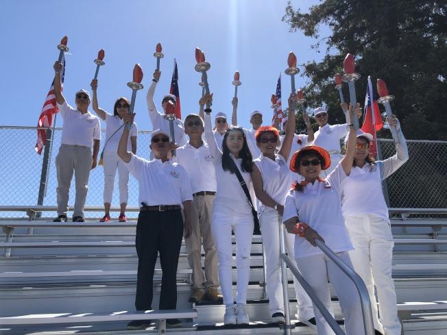 第35屆華運會開幕式23日在庫比蒂諾舉行。(記者李榮/攝影)