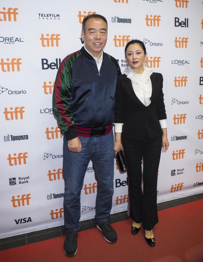 ●導演陳凱歌與夫人陳紅。(新華社)