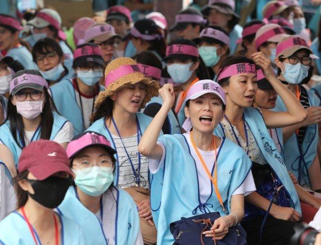 長榮空服員罷工進入第五天。本報資料照片