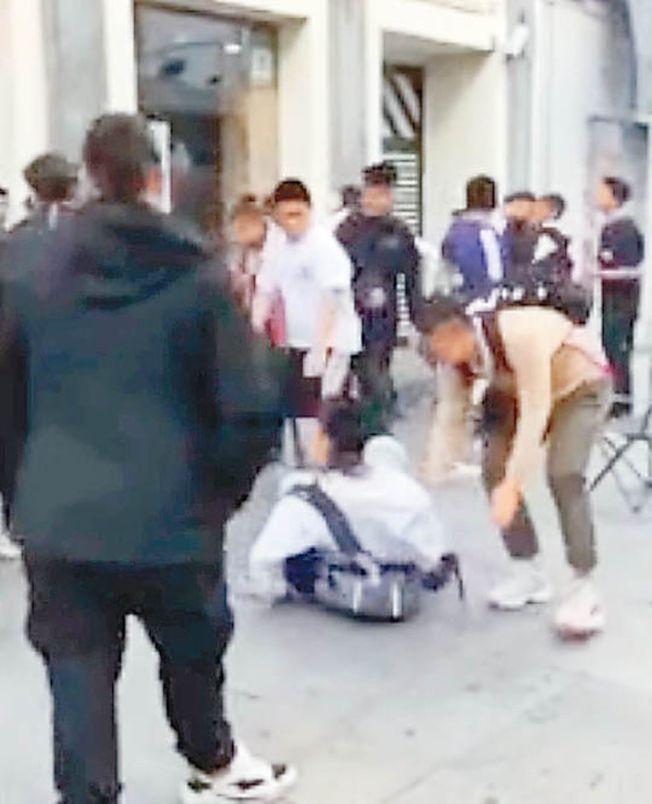 華人在馬德里為搶限量球鞋大打出手,網友形容「已見怪不怪」。(取材自微信)