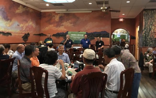 大奧蘭多台灣同鄉會端午節聚餐,會中會員分享。(詹翠華提供)