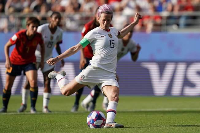 拉皮諾操刀主罰,為美國隊踢進致勝分。(Getty Images)