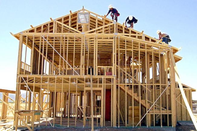 矽谷一個新屋興建工地。(Getty Images)