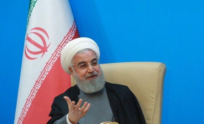 伊朗總統羅哈尼公開批評美國總統川普。歐新社