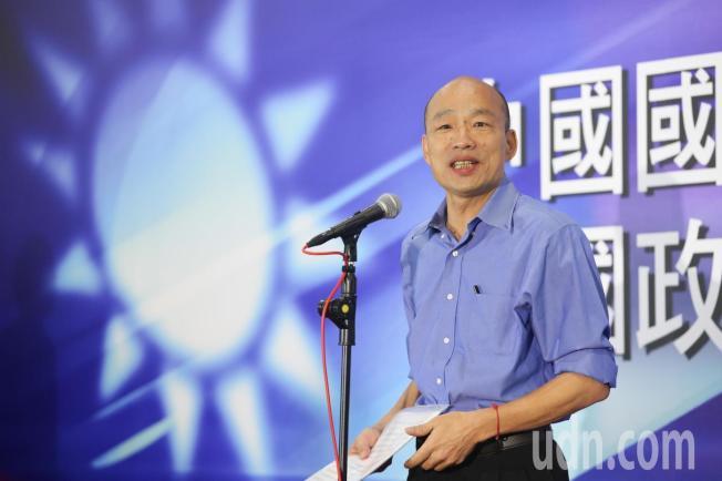 國民黨今天在高雄舉辦總統初選國政願景電視發表會,參選人韓國瑜步入會場。記者葉信菉/攝影