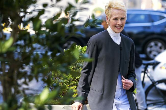 75歲的作家珍‧卡若爾指控川普對她性騷擾;川普則說「她不是我欣賞的類型」。(美聯社)
