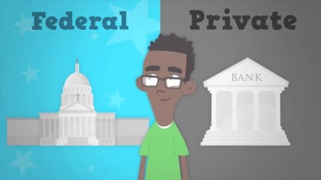 倘若上大學必須借錢,首先申請聯邦貸款,因它的條款對借款人較為友善。(取自YouTube)