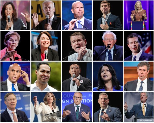 今年民主黨初選參選人眾多,民主黨安排兩天的辯論會。(Getty Images)