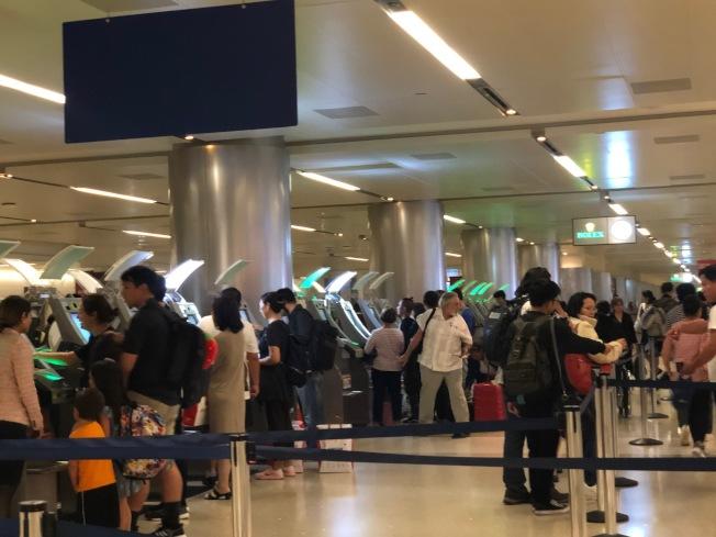 Mobile Passport Control (MPC)手機應用程式可節省美國和加拿大公民入境時間。(記者張宏/攝影)