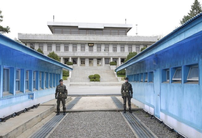 南北韓交界地。 歐新社