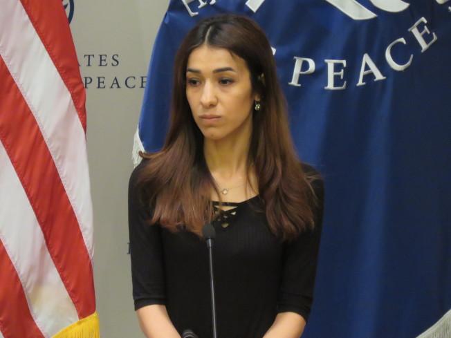 2018年諾貝爾和平獎得主之一穆拉德。華盛頓記者張加/攝影