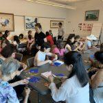 陸明良教剪紙 古老中國藝術吸引各族裔