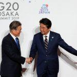 安倍冷對文在寅 G20互動僅8秒