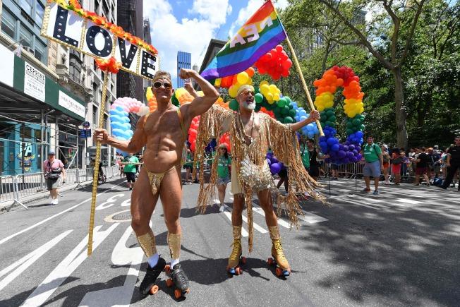 紐約市同志大遊行,紀念「石牆暴動」50周年。(Getty Images)