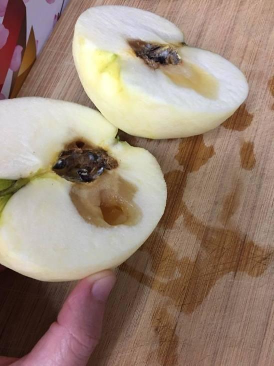 爛掉的蘋果。圖/轉載自臉書社團